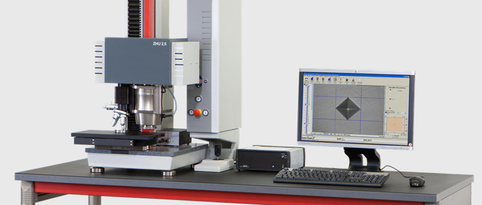 Universal hardness tester for instrumented indentation tests